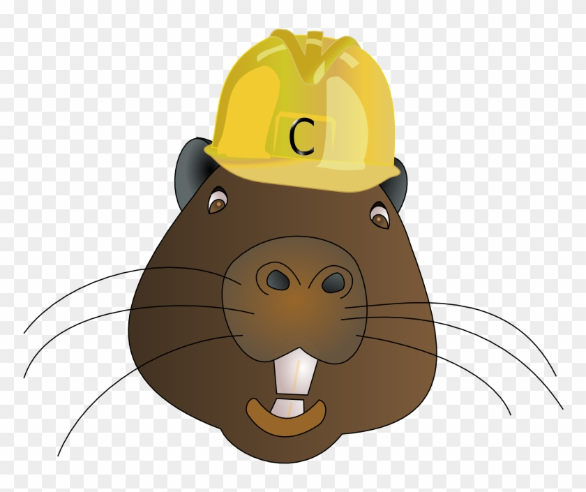 Free Beaver Wearing A Hard Hat Clip Art - Beaver With Hard Hat #288390