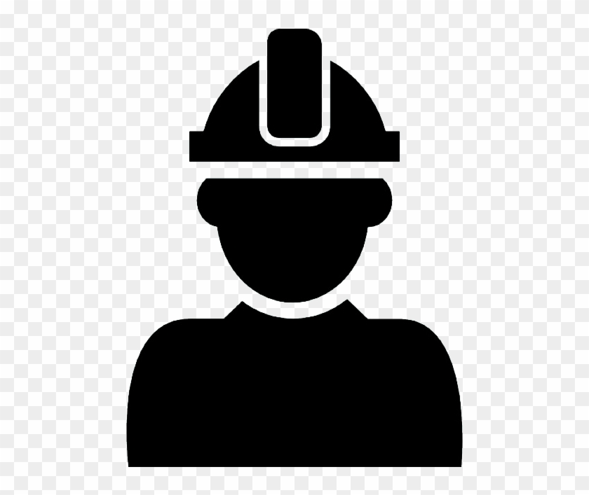 Constructor With Hard Hat Protection On His Head - Man With Hard Hat Icon #288398