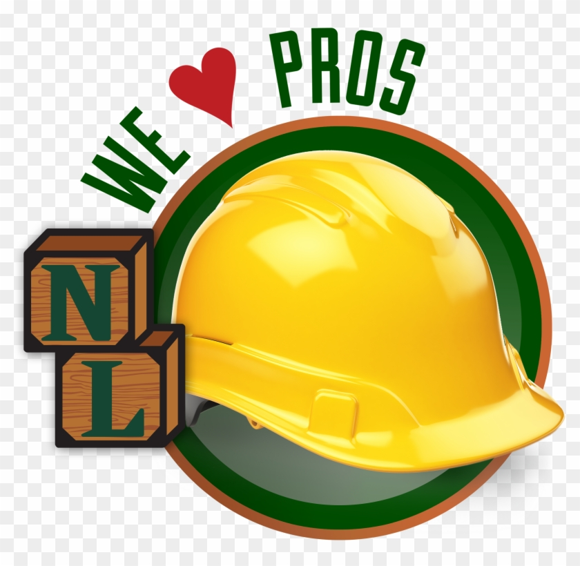 We 'heart' Pros Icon With Hard Hat - Trex Company, Inc. #288420