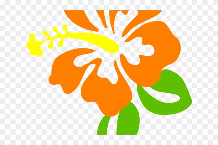 Hibiscus Clipart Orange Hibiscus - Flower Clipart #288435