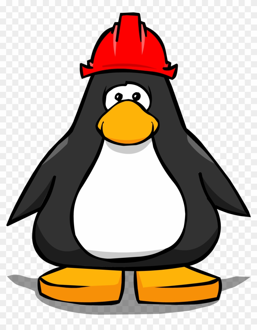 Red Hard Hat Ig - Club Penguin Tour Guide Hat #288437
