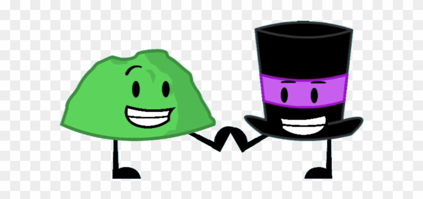 Top Hat Clipart Bfdi - Bfdi Green Rocky #288494