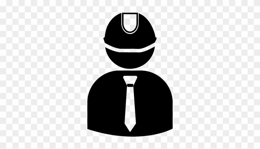 Engineer Wearing Hard Hat With Suit And Tie Vector - Civil Engineer Icon Png #288557