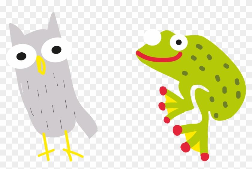 Owl Bird Tree Frog - Green #288600