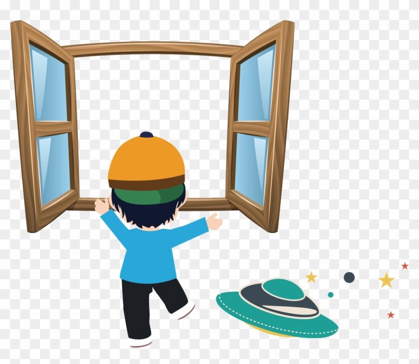 Window Cartoon Royalty-free Clip Art - Window Cartoon Royalty-free Clip Art #288612