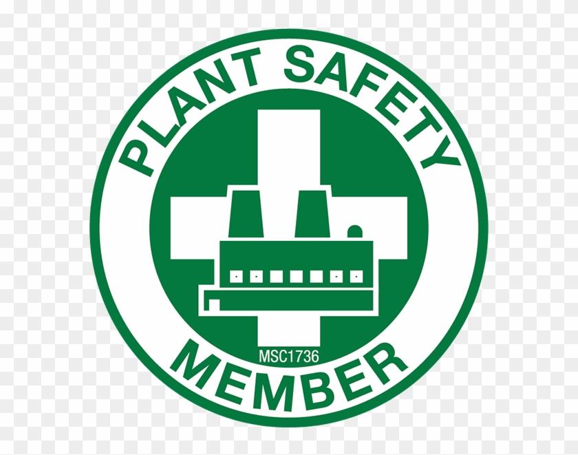 Plant Safety Member Hard Hat Emblem - Christian Barber Sticker 3024 #288604