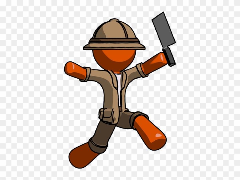 Orange Explorer Ranger Man - Design #288614