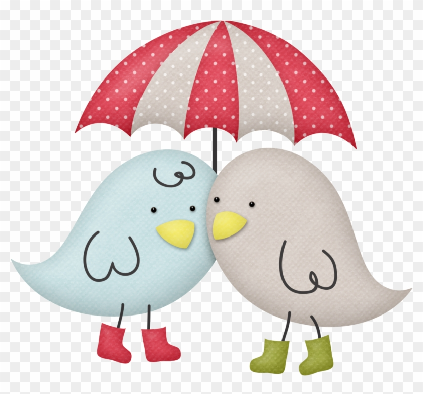 Birds With Umbrella - Bird With Umbrella Clipart #288638