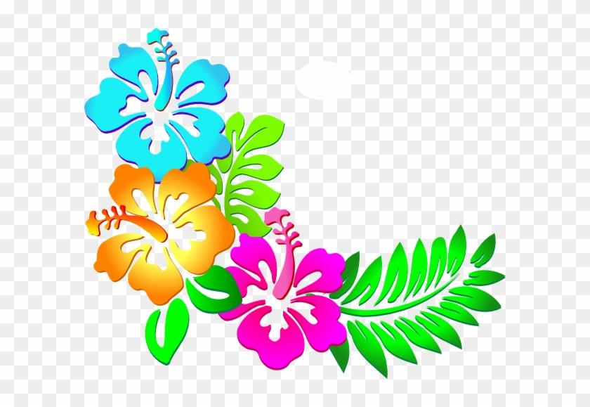 Luau Flowers Clip Art - Flores Hawaianas Png #288658