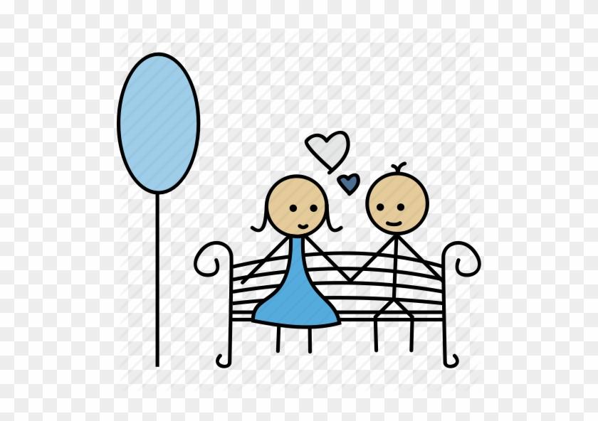 Boy, Date, Flowers, Garden, Gift, Girl, Love Icon Icon - Garden Date Icon #288665