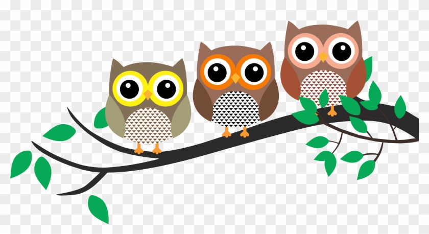 Big Image - Owl On A Branch Clipart #288717