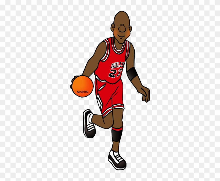 United States Clip Art By Phillip Martin Famous People - Michael Jordan Clipart Free #288773