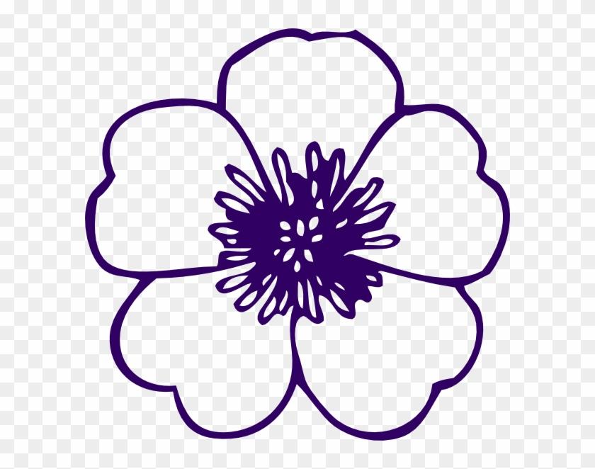 Purple Flower Clip Art At Clker - Flower Clip Art Free #288782