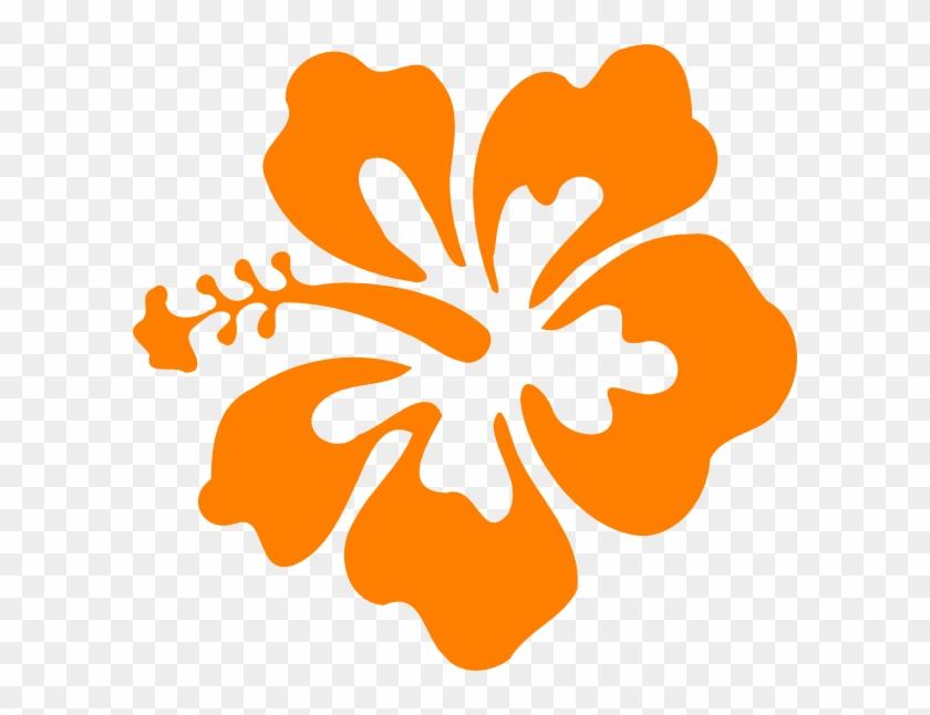 Hibiscus Svg Clip Arts 600 X 566 Px - Orange Hibiscus Flower Clip Art #288819