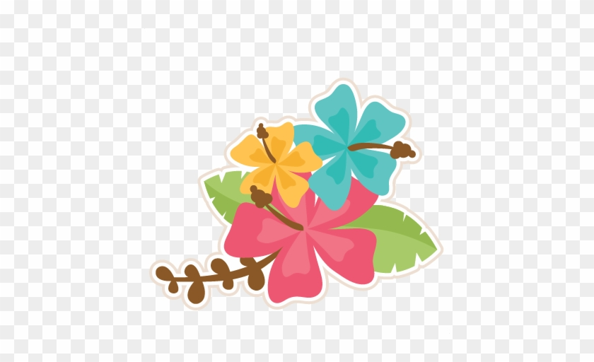 Hibiscus - Moana Leaves Clipart #288835