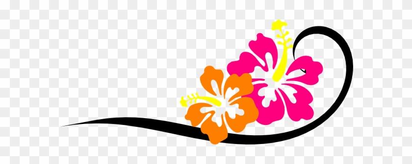 This Free Clip Arts Design Of Black Swirl, Bright Hibiscus - Hibiscus Tote Bag, Adult Unisex, Natural #288839