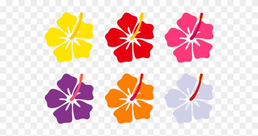 Colorful Hibiscus Flowers - Hibiscus Flower Cartoon #288841