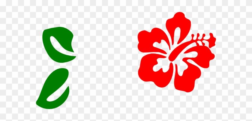 Red Hibiscus Clip Art At Clkercom Vector - Clip Art Hawaiian Flowers #288849