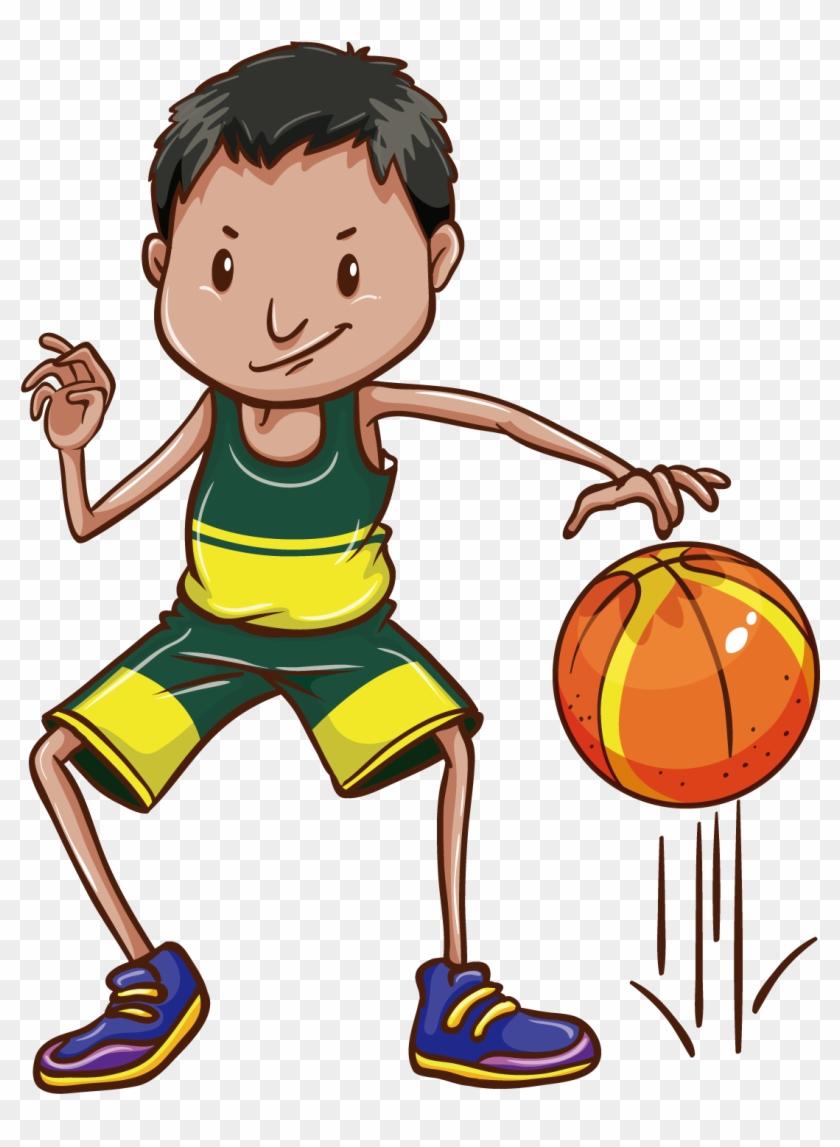 Basketball Drawing Clip Art - Bounce A Ball Clipart #288864