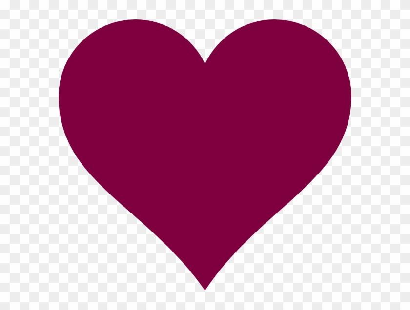 Solid Magenta Heart Clip Art At Clkercom Vector Online - Solid Heart #288863
