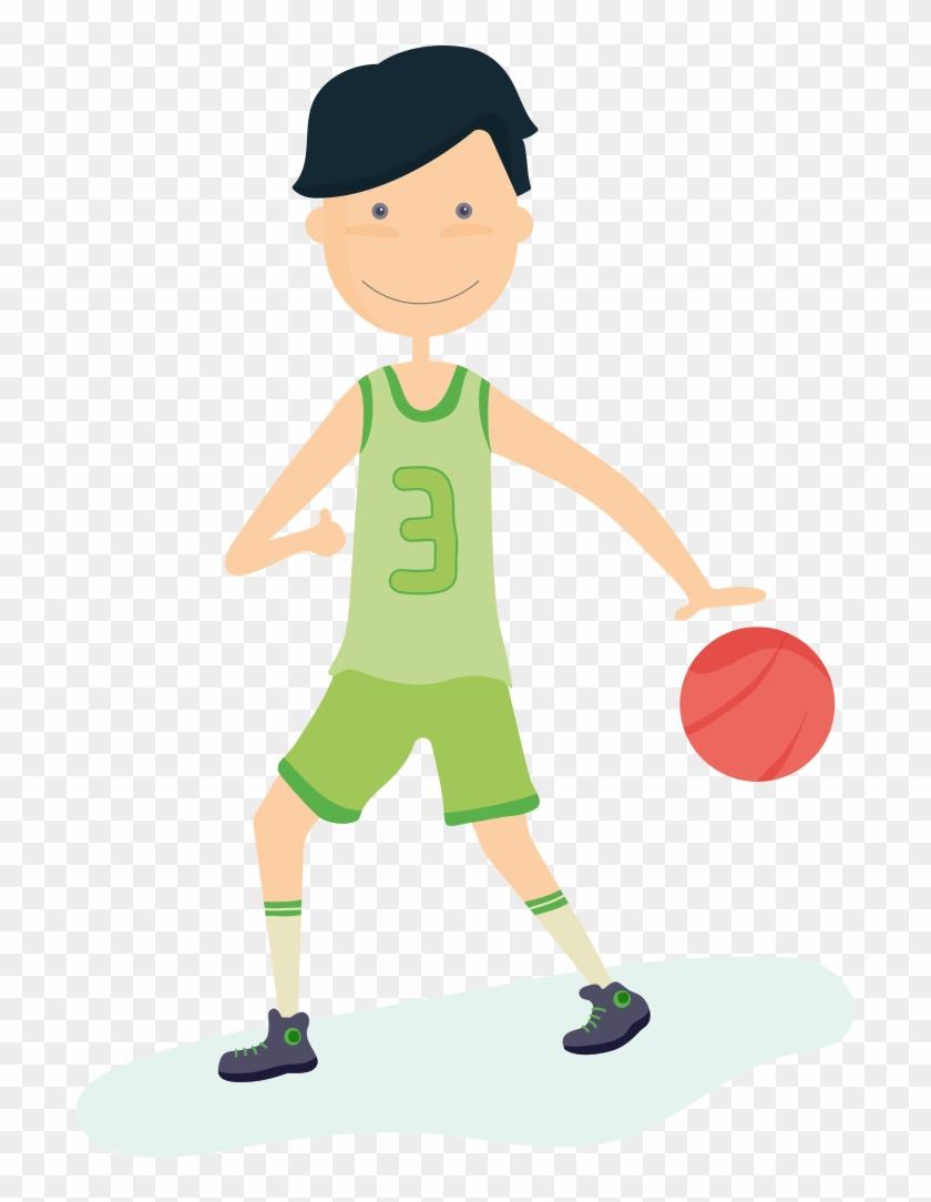 Basketball Boy Sport Clip Art - Basketball Boy Sport Clip Art #288886