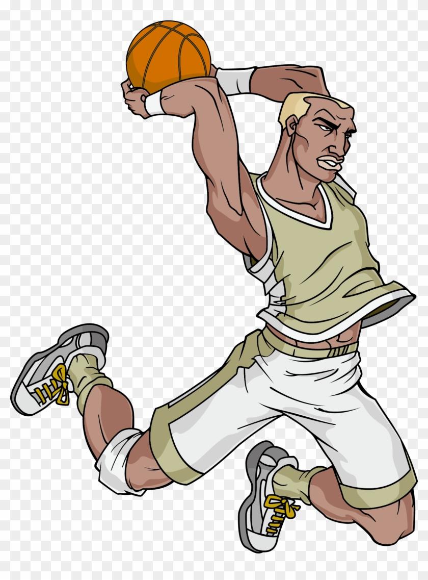 Basketball Court Cartoon Clip Art - Basketball Court Cartoon Clip Art #288945
