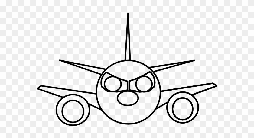 Airplane Clip Art At Clker - Cartoon Plane Front View #288927