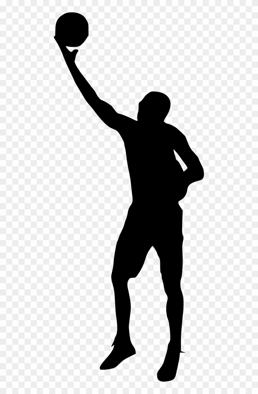 Free Download - Basketball Player Silhouette Png #288934