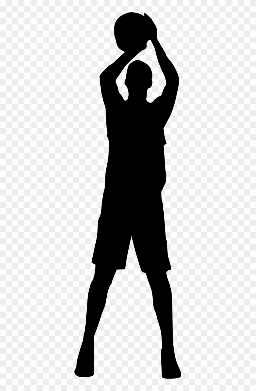 Free Download - Basketball Player Silhouette Png #288950