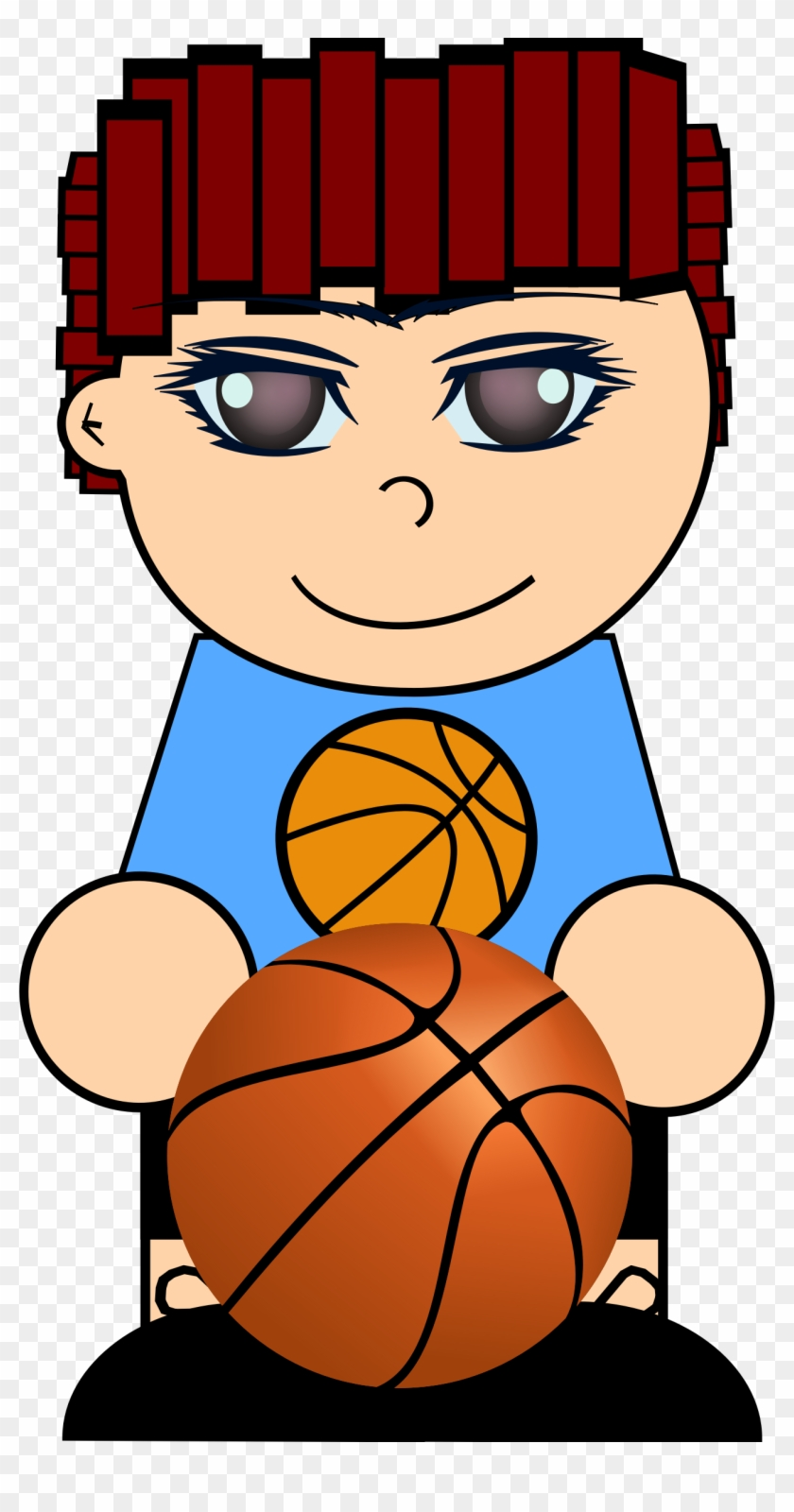 Boy With Basketball - Basketball Clip Art #288954