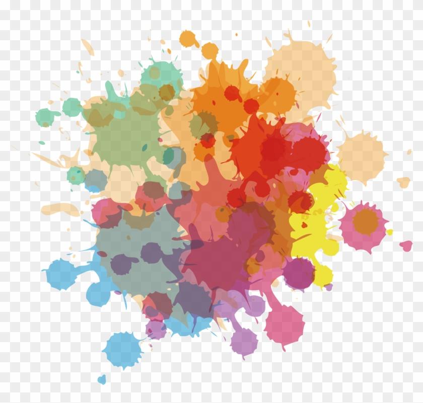 Ink Watercolor Painting Euclidean Vector - Mancha De Tinta Spray #288965