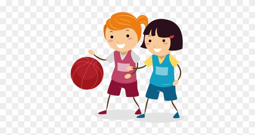 Little Basketball Girls Wall Sticker - Girl Playing Netball Clipart #288972