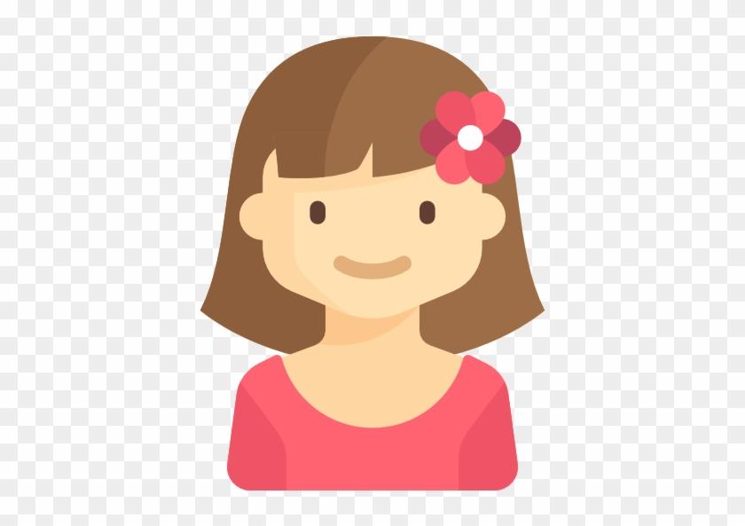 Girl Free Icon - Kids Flat Icon #288982