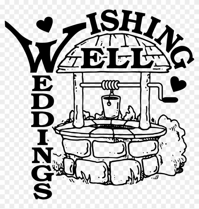 Wedding Wishing Well Clipart - Wishing Well Black And White #289051