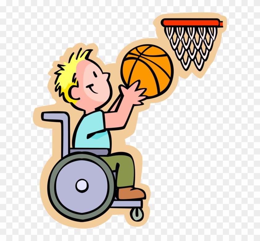 Vector Illustration Of Primary Or Elementary School - Menino Na Cadeira De Rodas #289062
