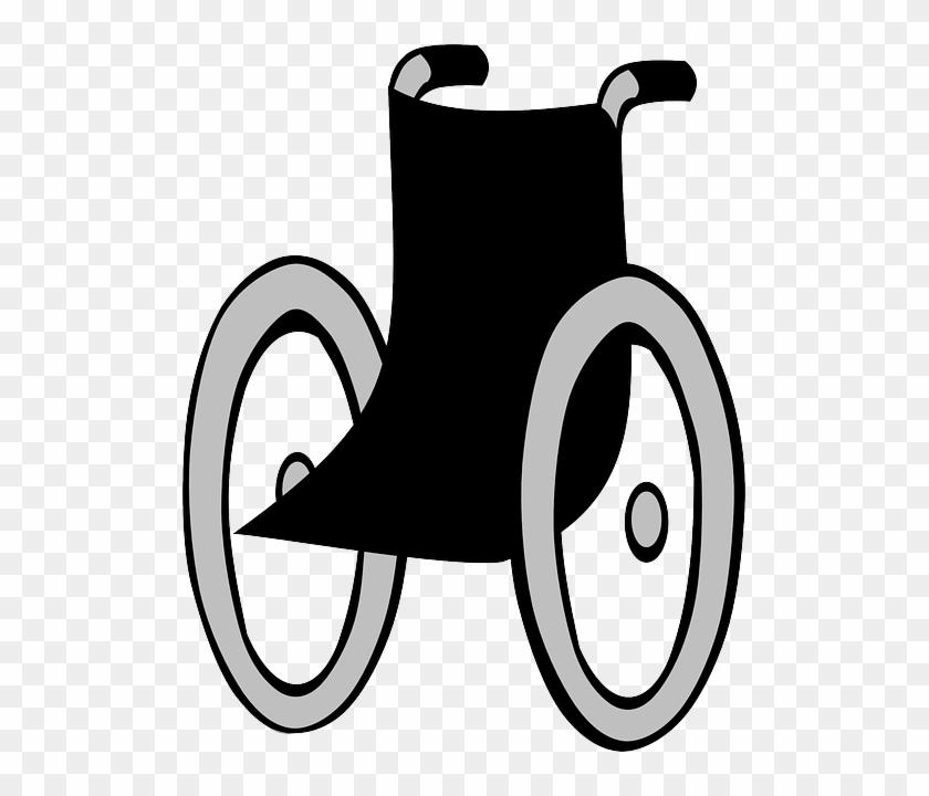 Black Wheelchair, Wheel Chair, Chairbound, Disabled, - Wózek Inwalidzki Clipart #289084