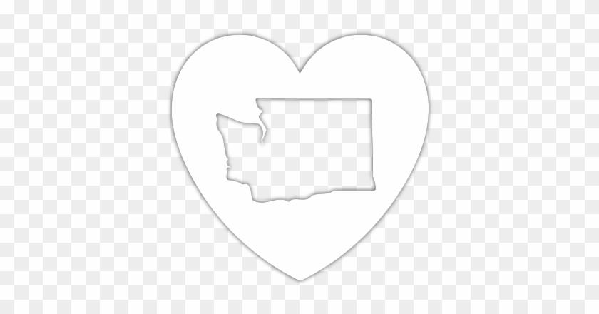 Washington Heart Diecut Sticker - Car - Aloha Washington - Hawaiian Islands In Washington #289106