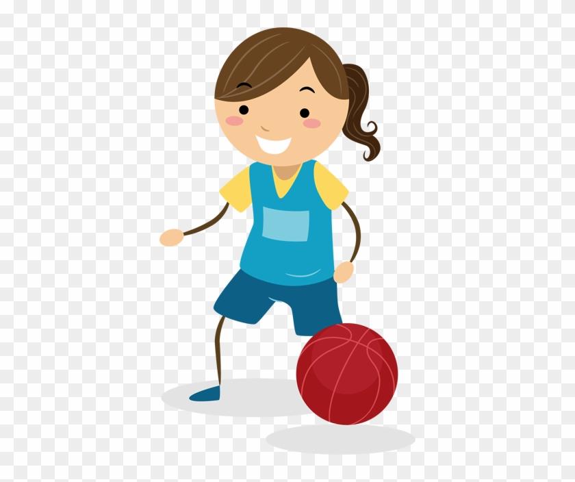 Girl Basketball Kids Sticker - 2nd Grade Math Learning Games: Fractions | Math Worksheets #289118