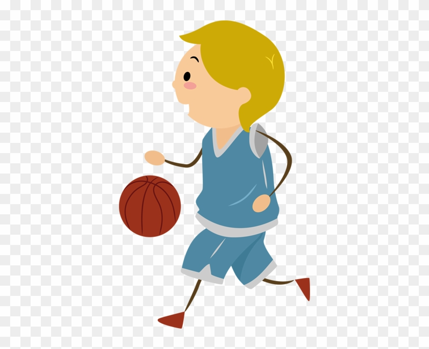 Boy Playing Basketball Kids Sticker - Basketball Moves #289126