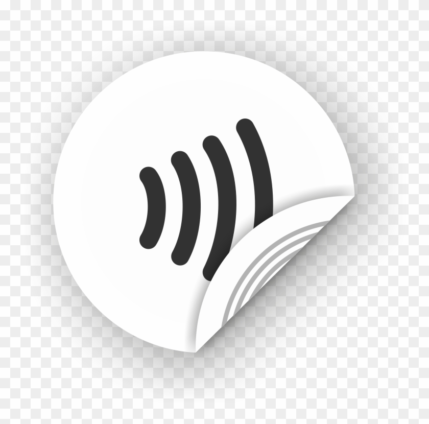 Picture Of Nfc Sticker 50mm With Wave, - Near-field Communication