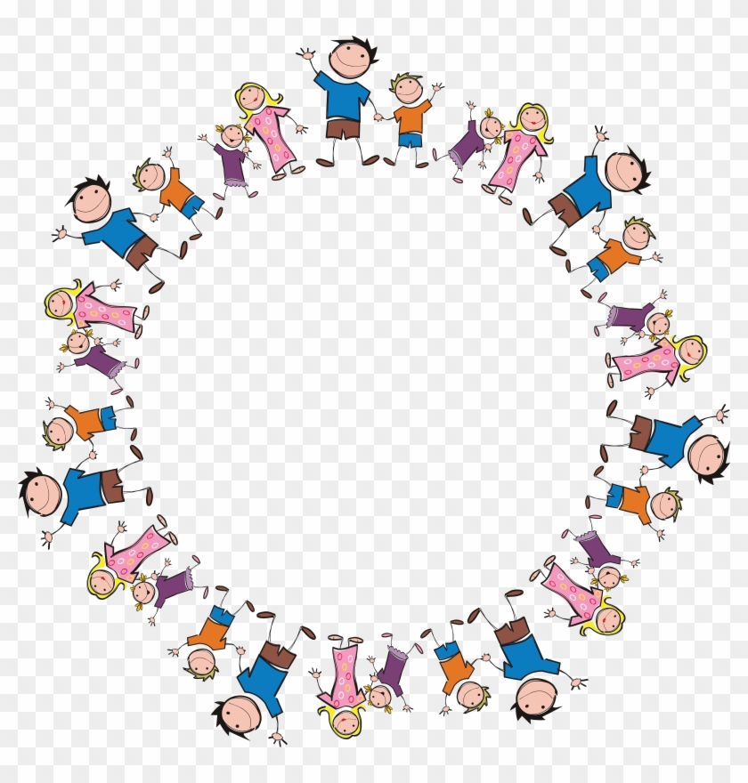 Free Clipart Of A Round Frame Made Of Stick Family - My Favorite Sticker Book For Girls 4-8: My Favorite #289143