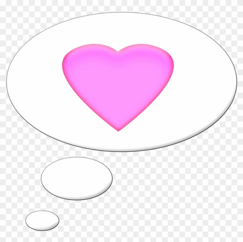Pink Speech Bubble Heart - Heart #289150