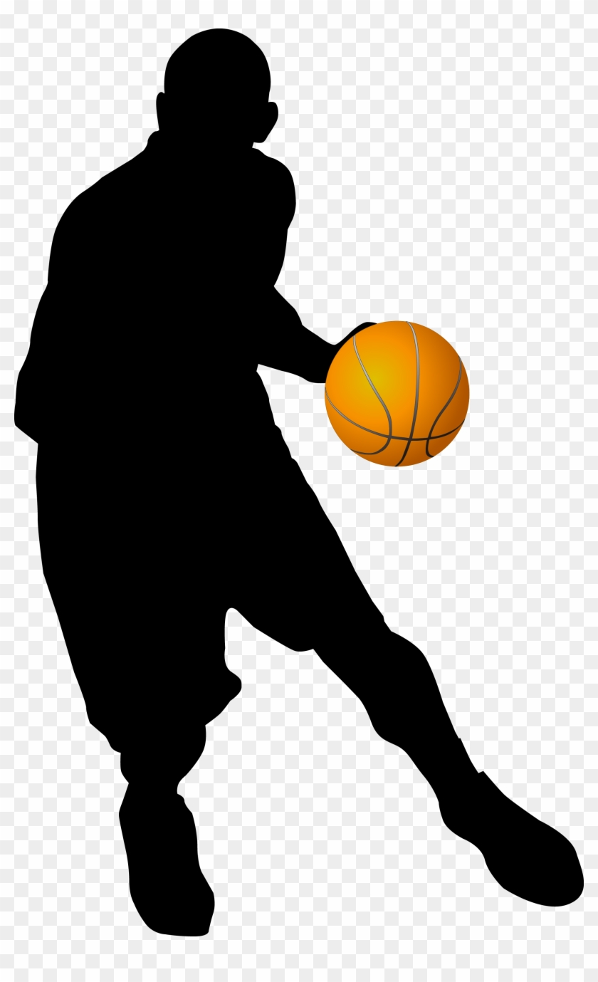 Chicago Bulls Basketball Player Clip Art - Playing Basketball Silhouette Png #289161