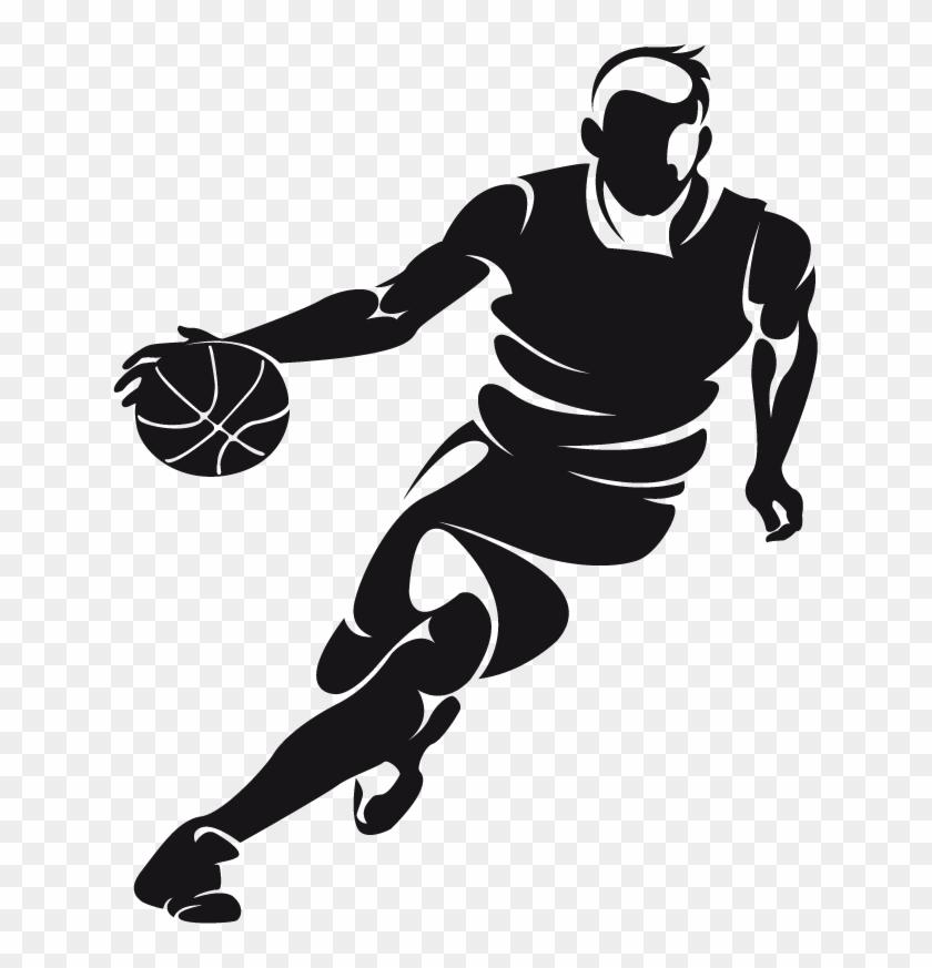 Basketball Dribbling Clip Art - Basketball Player Png #289164