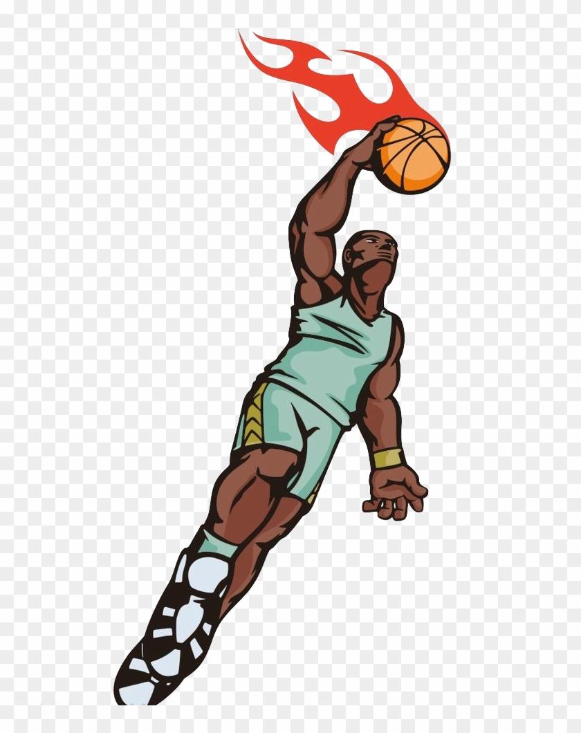 Basketball Sport Slam Dunk Illustration - Basketball Sport Slam Dunk Illustration #289234