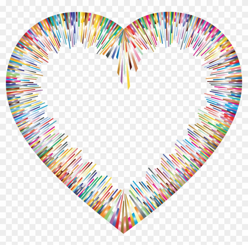 Free Clipart Of A Colorful Abstract Heart Border - Heart Colorful I Png #289194
