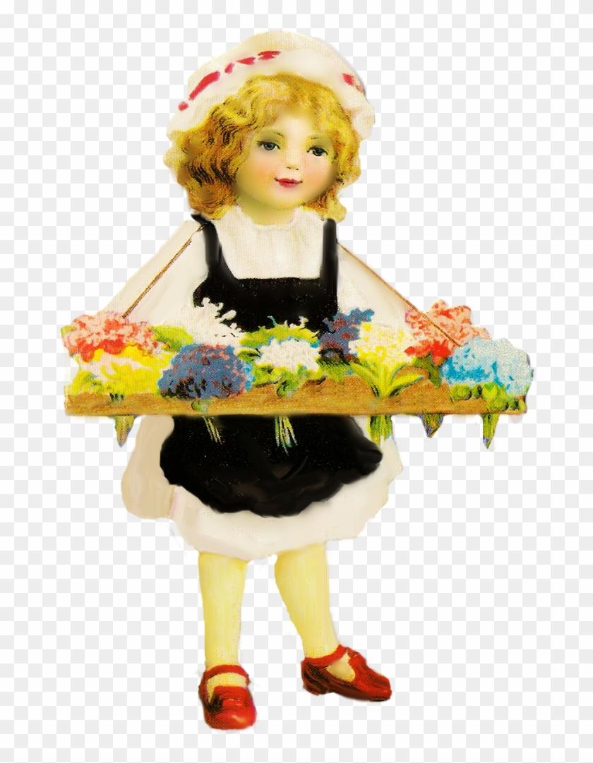 Vintage Flower Girl By Jinifur - Vintage Flower Girl Png #289218