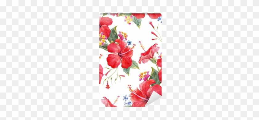 Watercolor Tropical Floral Vector Pattern Wall Mural - Watercolor Painting #289253