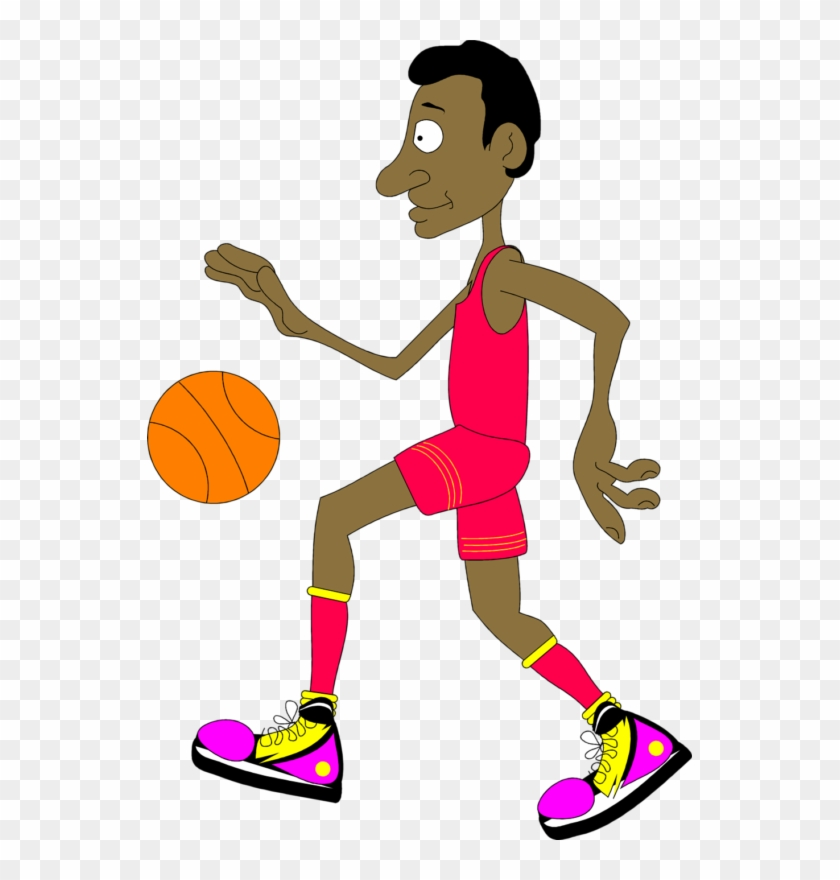 See Here Cartoon Basketball Clipart Free Download - Basketball Player Gif Cartoon #289282