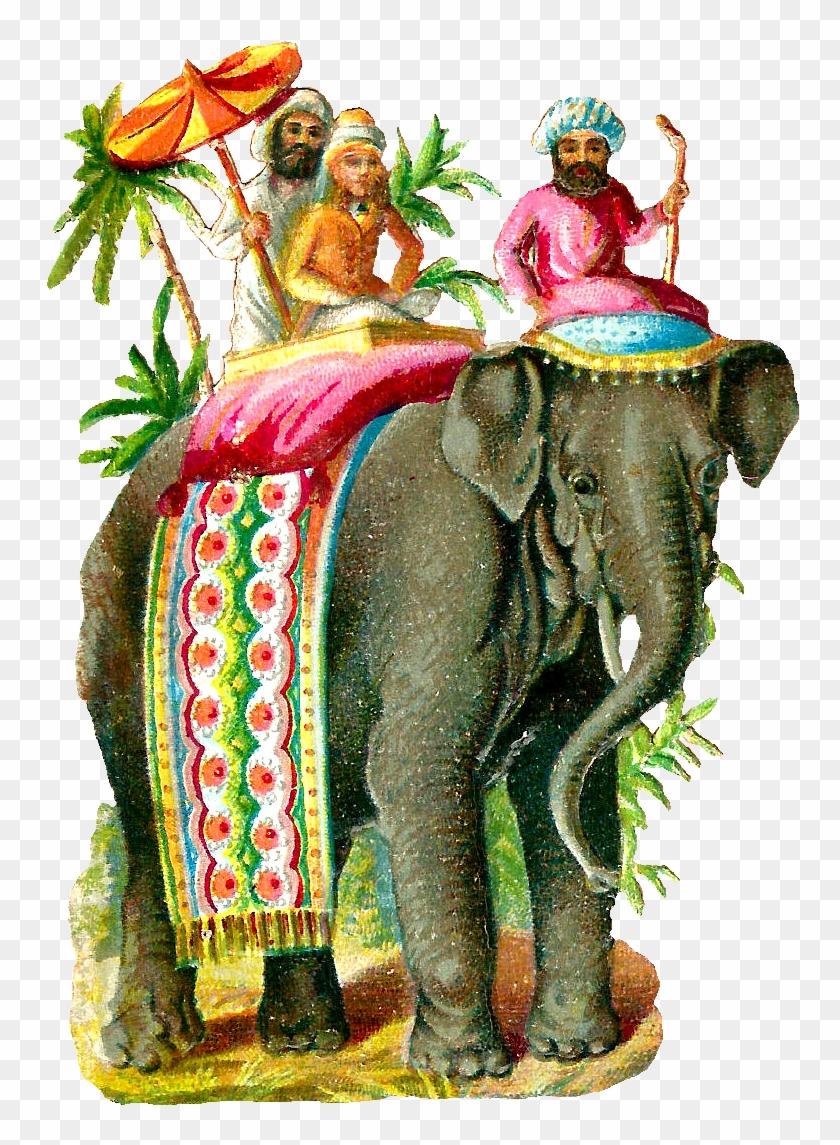 Vintage Elephant Clip Art - Vintage Elephant Illustration #289304